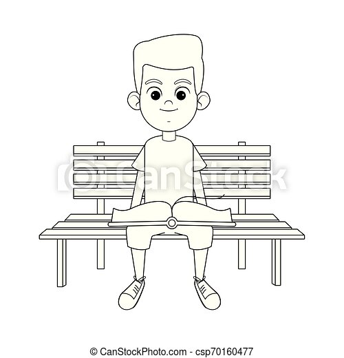 Cool Young Boy With A Book Black And White Machost Co Dining Chair Design Ideas Machostcouk