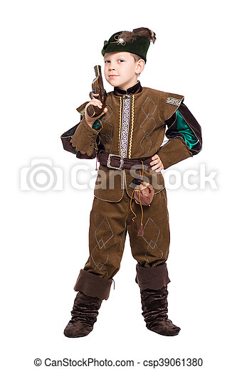 Young boy with the gun - csp39061380