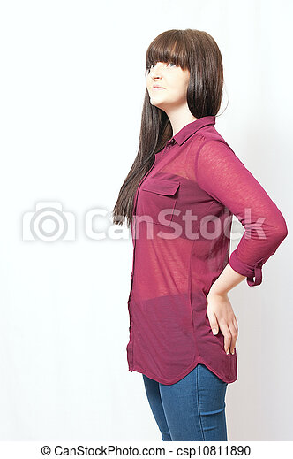 Young Brunette Girl - csp10811890
