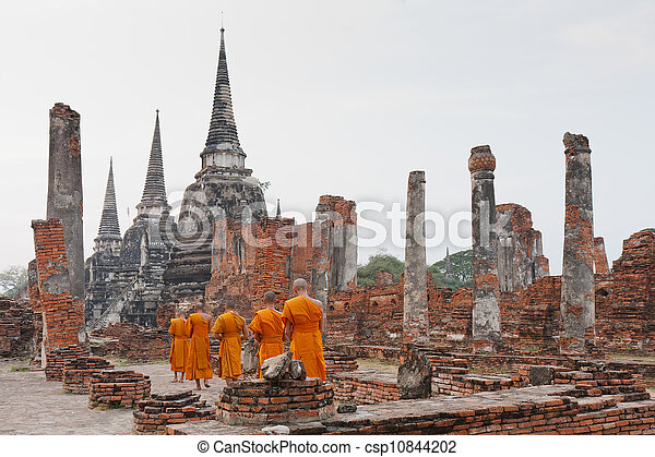 young Buddhist monks - csp10844202