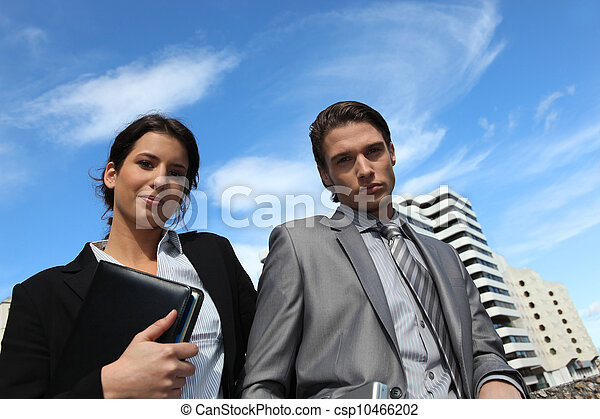 Young business couple in the city - csp10466202
