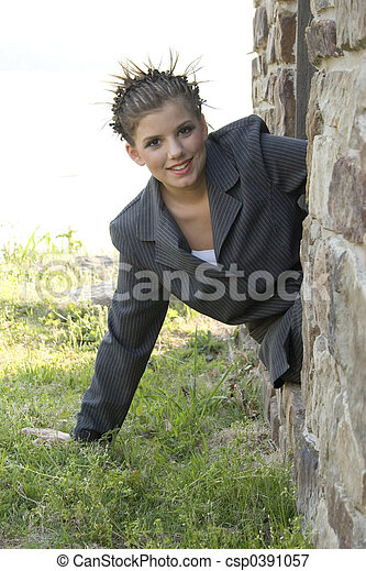 Young Business Woman - csp0391057