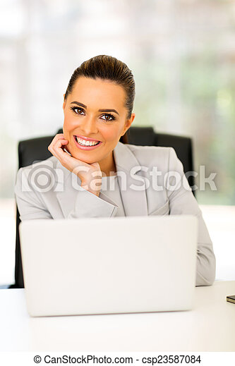 young business woman portrait - csp23587084