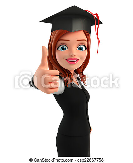 illustration of young business woman with graduate hat Santa Hat Template Santa Hat Clip Art Border