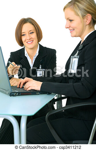 Young Business Women Working Together - csp3411212