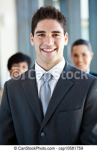young businessman and co-worker - csp10581759