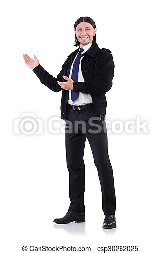 Young businessman isolated on white - csp30262025