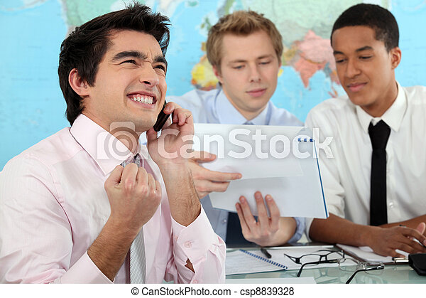 Young businessman rejoicing - csp8839328