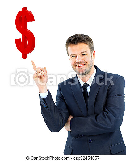 young businessman smiling - csp32454057