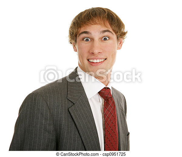 Young Businessman Surprised - csp0951725