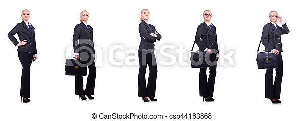 Young businesswoman isolated on white - csp44183868