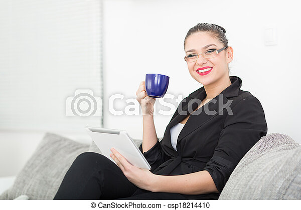 Young Businesswoman - csp18214410