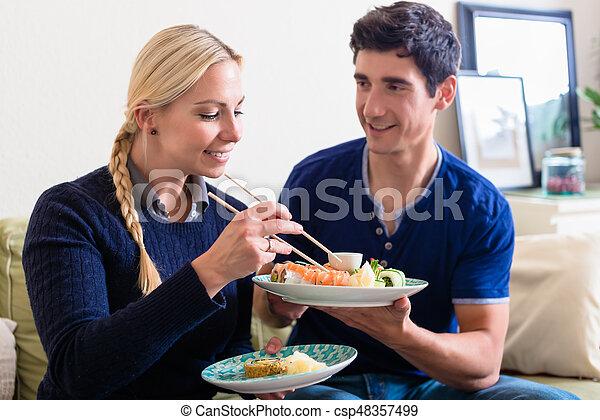 Caucasian couple Asian