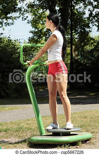 Young caucasian woman - csp5667226
