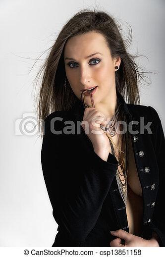 Young caucasian woman - csp13851158