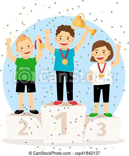 Young Children Winner Podium