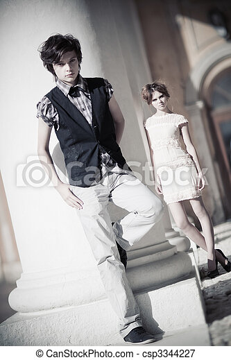 Young couple fashion - csp3344227