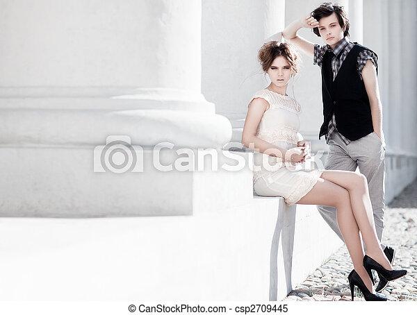 Young couple fashion - csp2709445