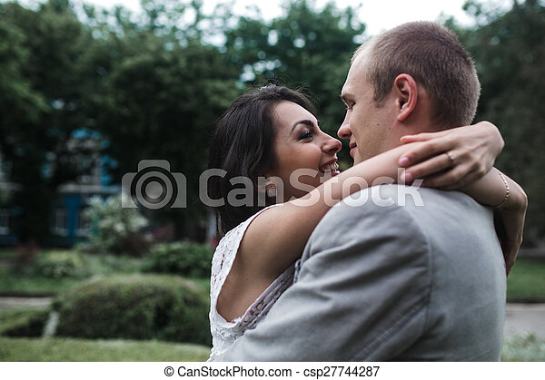 Young couple having a great time - csp27744287