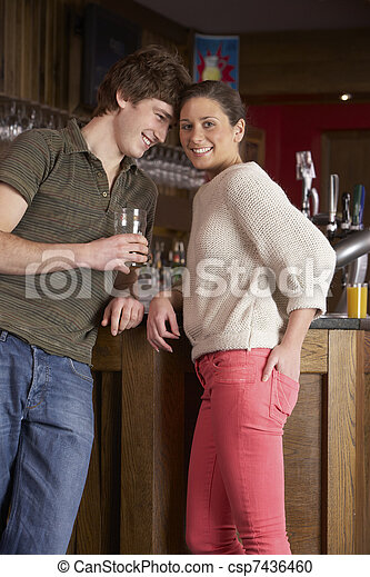Young couple in love - csp7436460