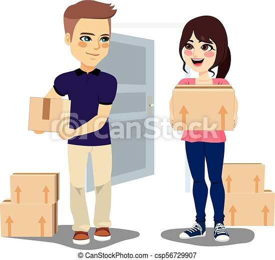 Young Couple Moving - csp56729907