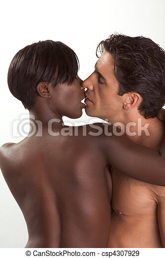 Young couple naked Man and woman in love - csp4307929