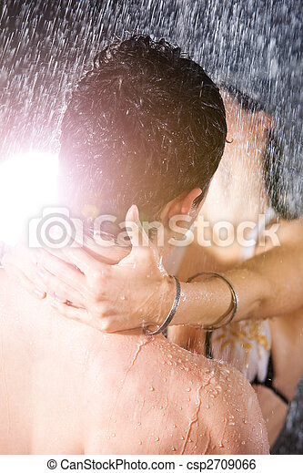 Young couple passion - csp2709066