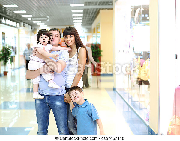 Young family doing shopping - csp7457148