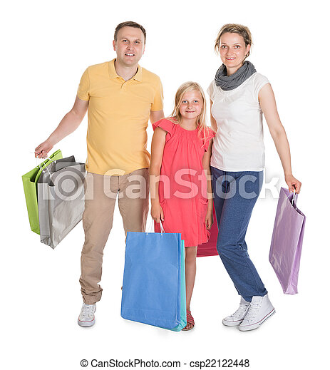 Young Family Shopping Together - csp22122448