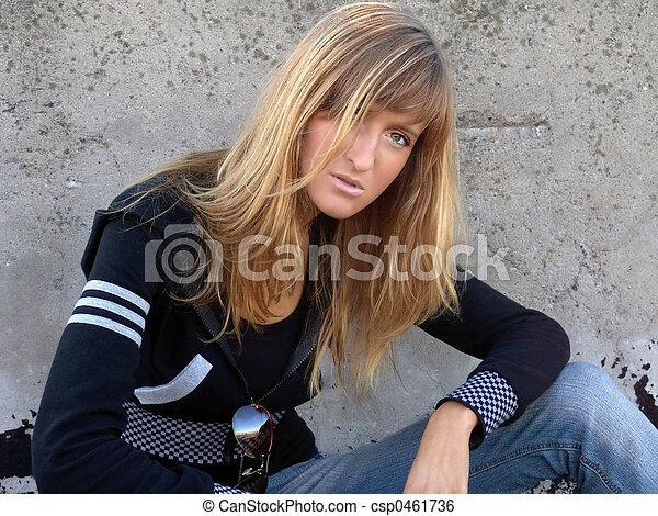 Young Fashion Girl - csp0461736