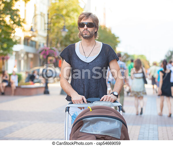Young Father Outdoors - csp54669059