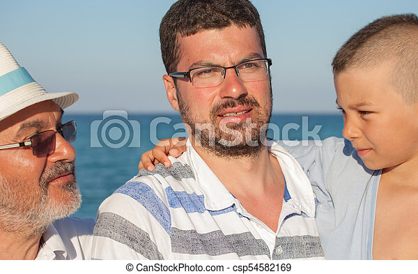 Young Father Son - csp54582169