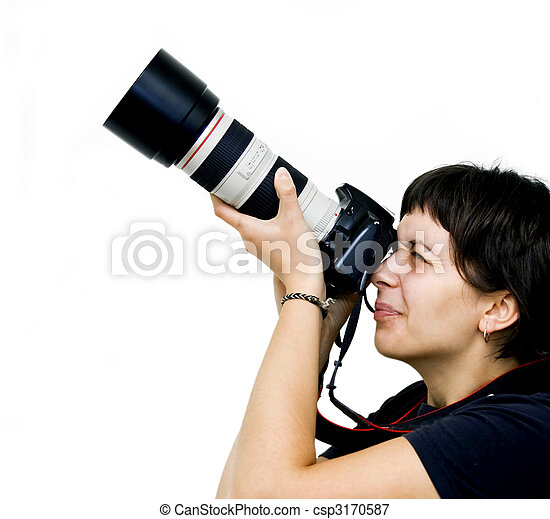 Young female photographer - csp3170587