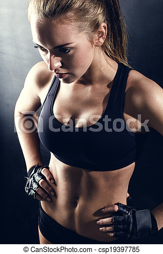 young fitness woman - csp19397785