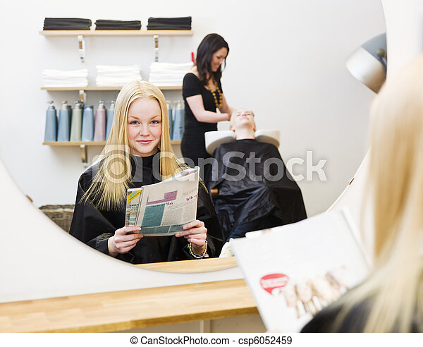Young Girl at the Beauty Spa - csp6052459