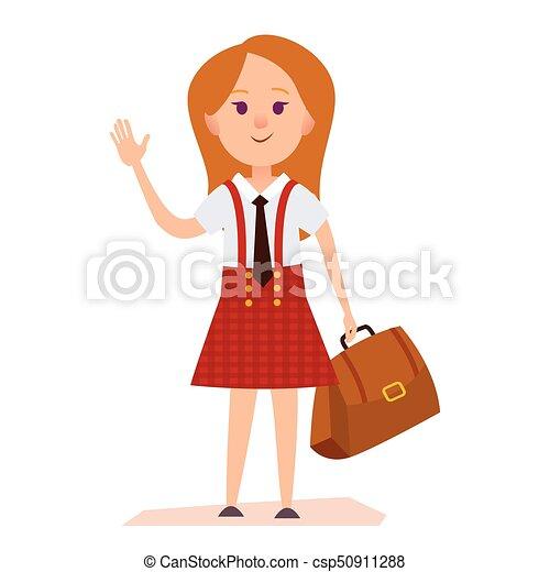 Studenten Junge und Mädchen in der Schule - Download Kostenlos Vector,  Clipart Graphics, Vektorgrafiken und Design Vorlagen