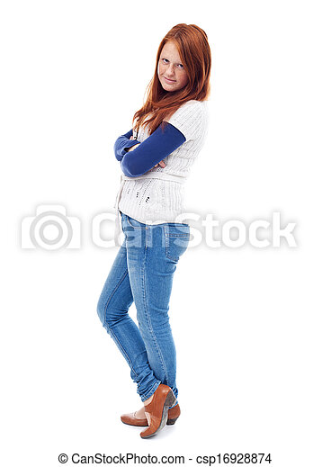 Young girl standing - csp16928874
