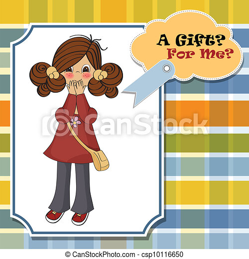 young girl surprised - csp10116650