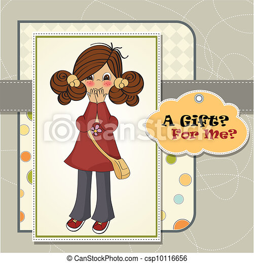 young girl surprised - csp10116656