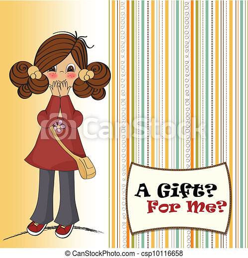 young girl surprised - csp10116658