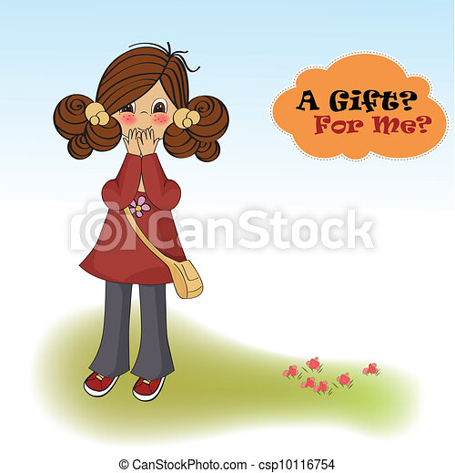 young girl surprised - csp10116754