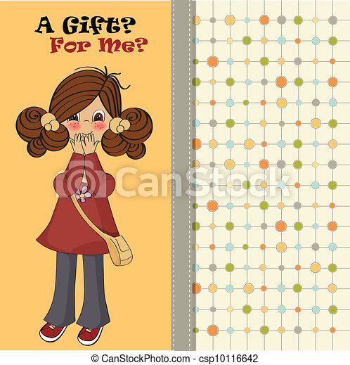 young girl surprised - csp10116642