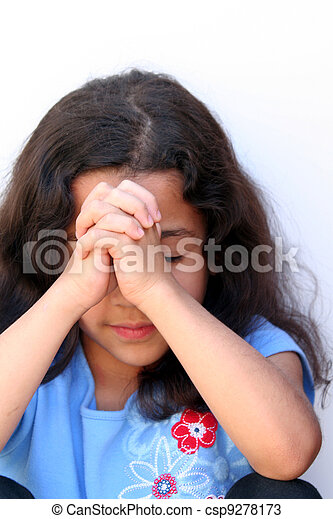 Young Girl Thinking - csp9278173