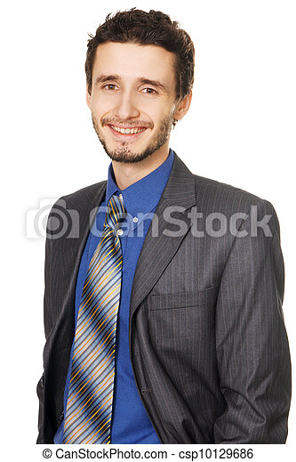 Young handsome businessman - csp10129686