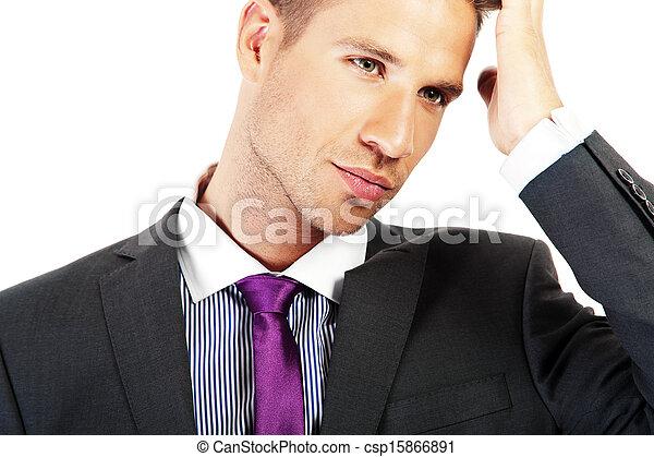 Young handsome businessman portrait - csp15866891
