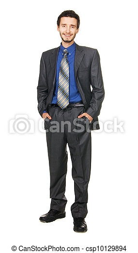 Young handsome businessman - csp10129894