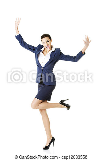 Young happy businesswoman - csp12033558