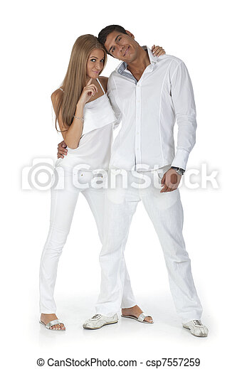 Young happy couple have fun - csp7557259