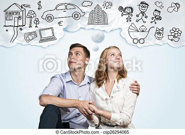 Young happy couple - csp26294065