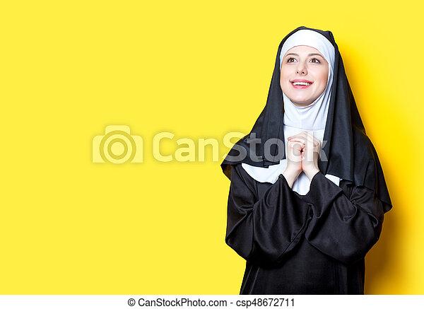 Young happy nun - csp48672711